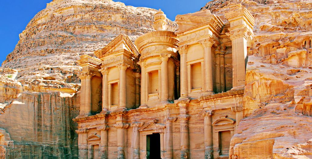 Fotografia del tempio di Khazneh in Giordania