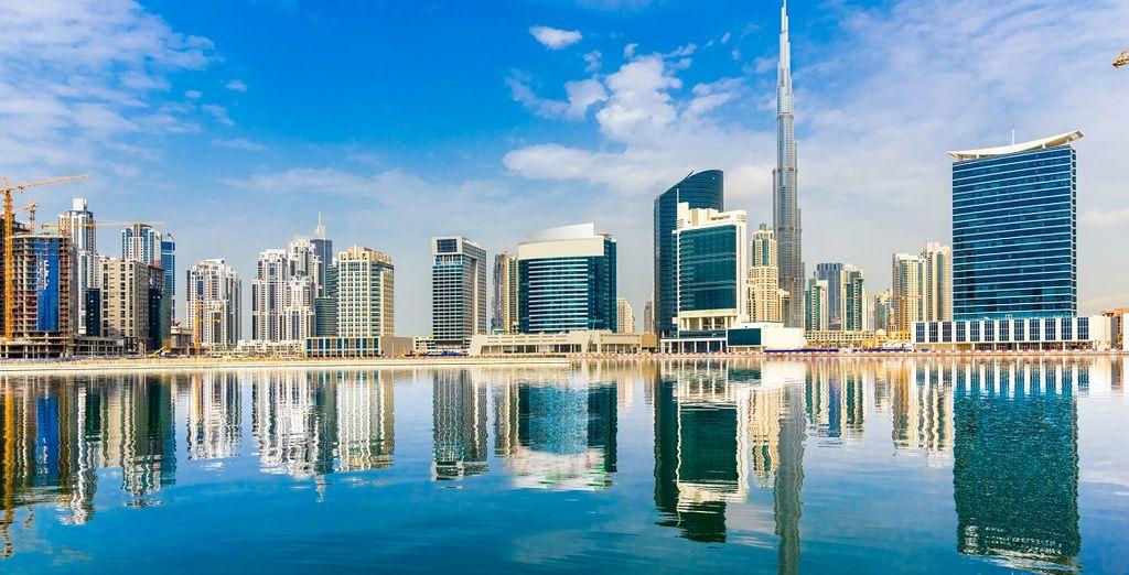 Fotografia della città di Dubai