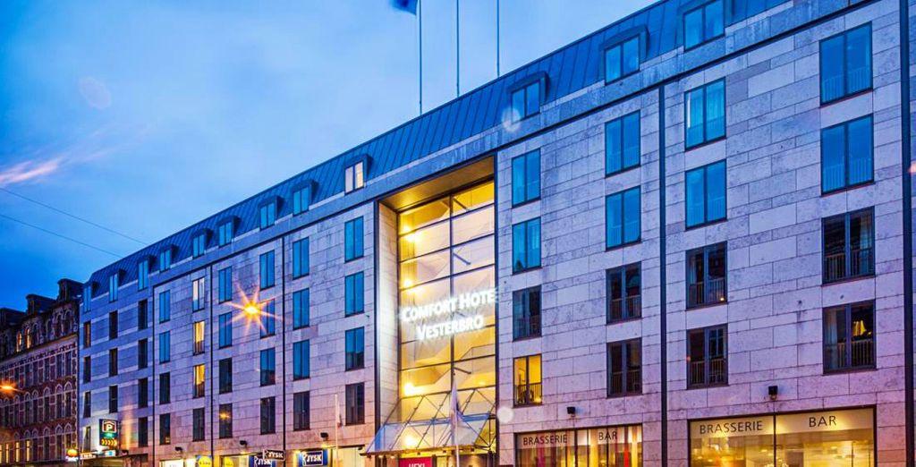 Mentre per la seconda crociera, trascorrerete la prima notte del vostro viaggio a Copenhagen presso l'Hotel Comfort Vesterbro