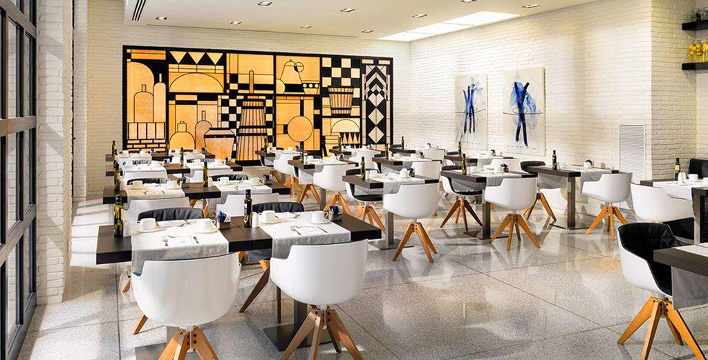 Troverete un ristorante in arte moderna che propone un'ottima cucina