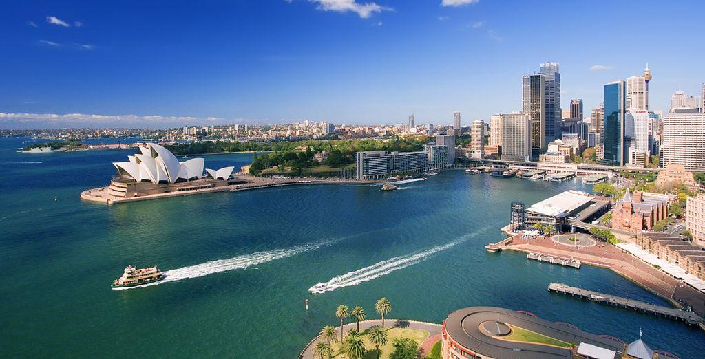 Fotografia della città di Sydney in Australia e dei suoi grattacieli