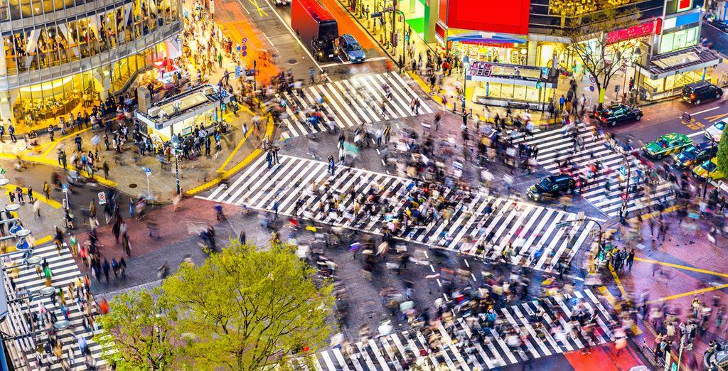 Potrete vivere anche il lato più trendy della città nel quartiere di Shibuya