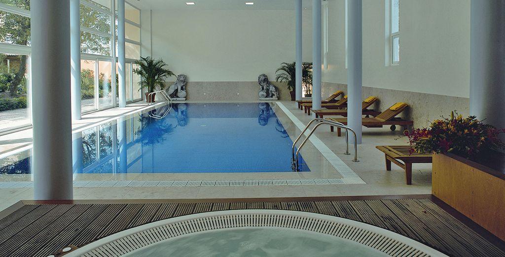 Potrete concedervi momenti di relax nelle piscine interne