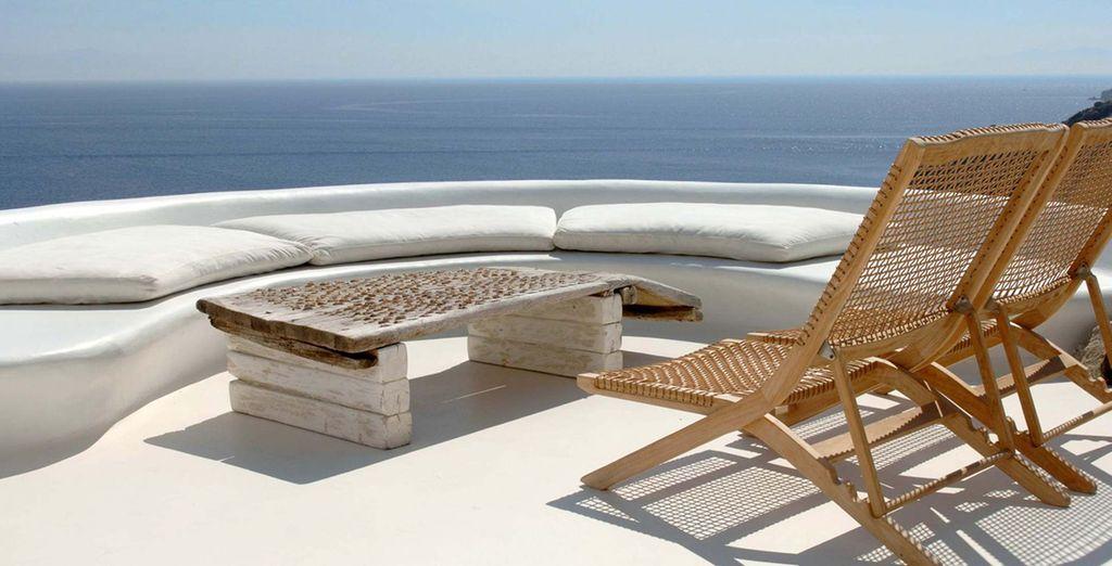 direttamente affacciata sul Mar Egeo