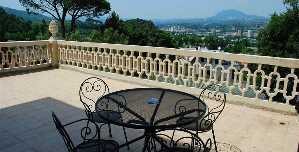 Ammirate i panorami dalle terrazze dell'hotel