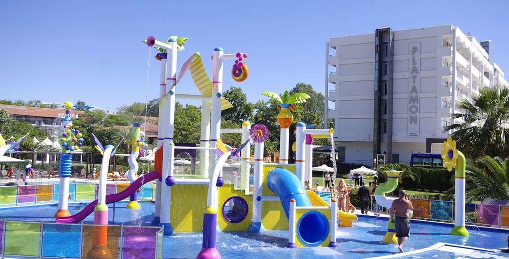 e strutture per i bambini dove potersi divertire