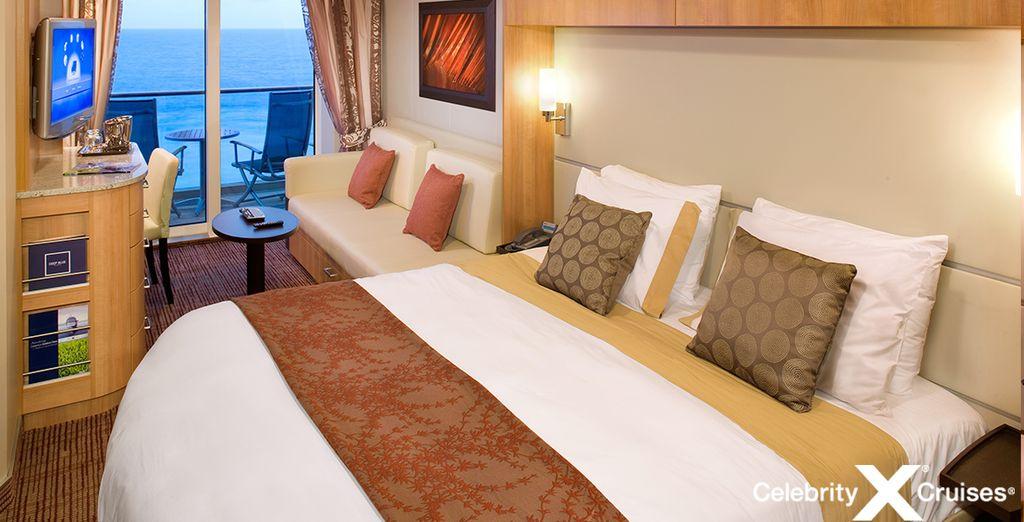 Accomodatevi nella vostra confortevole Camera con Balcone