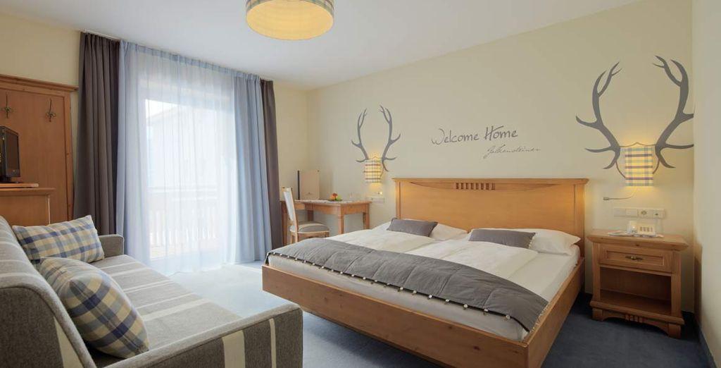 soggiornerete nella vostra confortevole camera standard