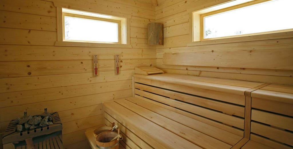 coccolandovi con una sauna nella casetta esterna