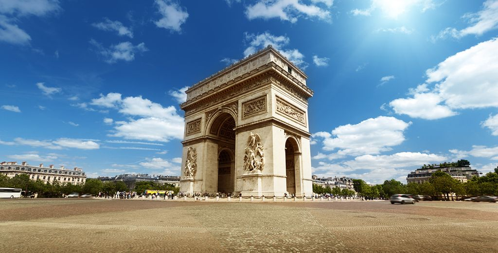 L'Arco di Trionfo, vero e proprio simbolo della città