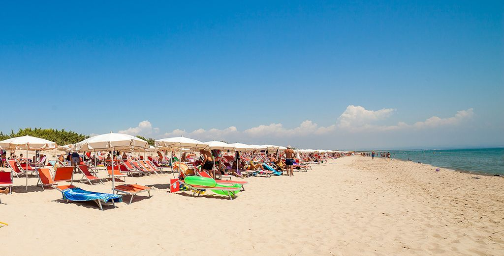 E godetevi le giornate sulle lunghe spiagge.