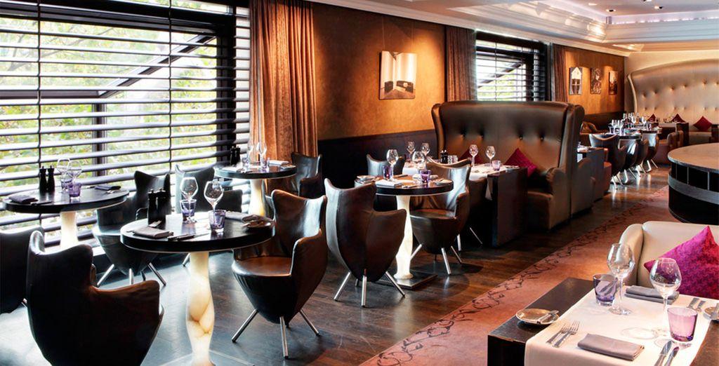 potrete accomodarvi al Crystal Lounge, ristorante d'alta cucina di Bruxelles