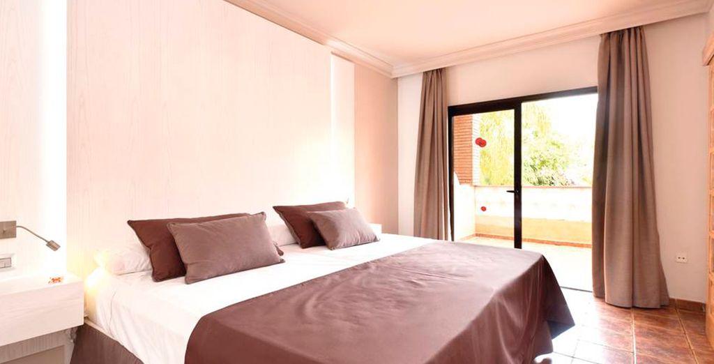 La vostra camera da letto è spaziosa e molto luminosa