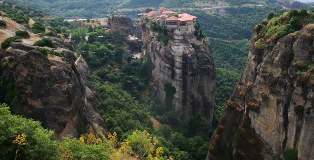 Paesaggio di un parco naturale in Grecia