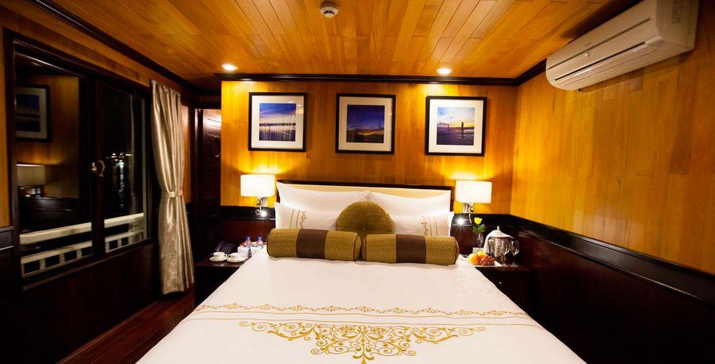 Le comode cabine saranno il luogo perfetto in cui godersi un dolce relax
