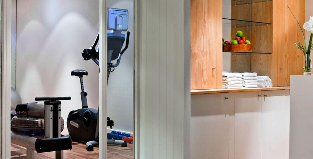 o mantenetevi in forma nell'attrezzata area fitness