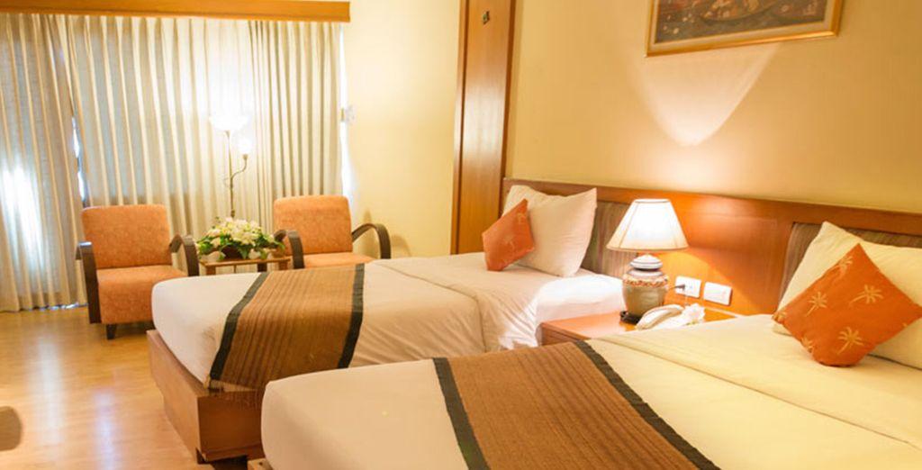 In accoglienti camere Superior per godere del massimo del relax