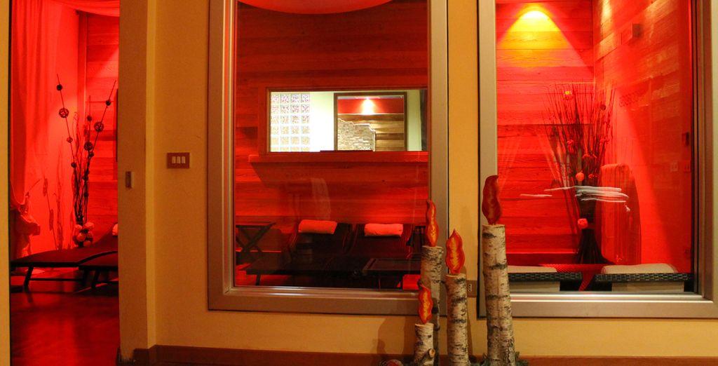 La sala relax vi aspetta per momenti di tranquillità