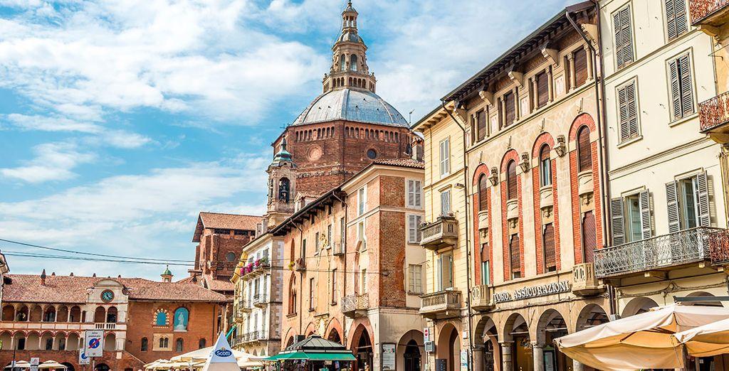 o la ridente cittadina di Pavia