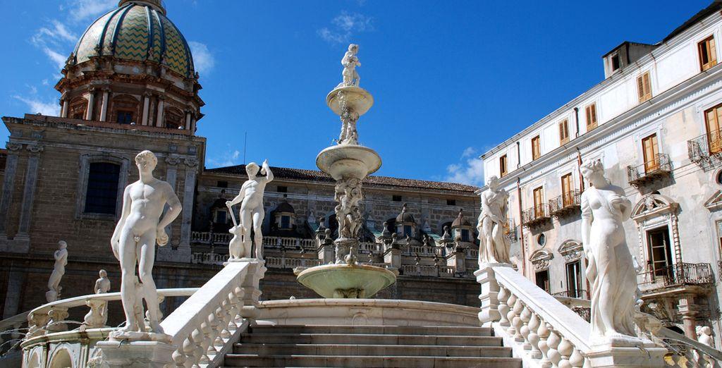 Una residenza neoclassica nel centro storico di Palermo