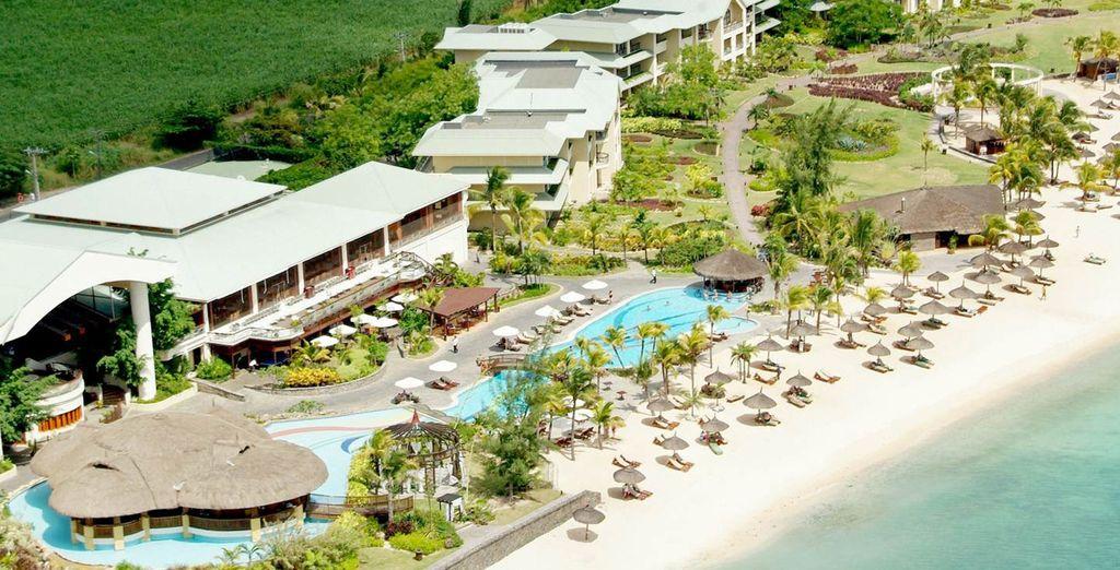Una spettacolare vista aerea del Resort