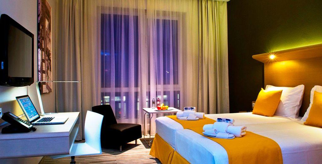 Hotel di alta gamma nel centro di Budapest e vicino a tutte le attività con camera doppia e tutti i comfort