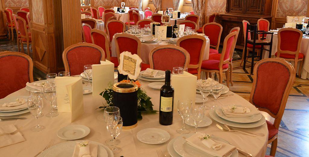 Presso il ristorante Il Castello si respira un'atmosfera di grande classe
