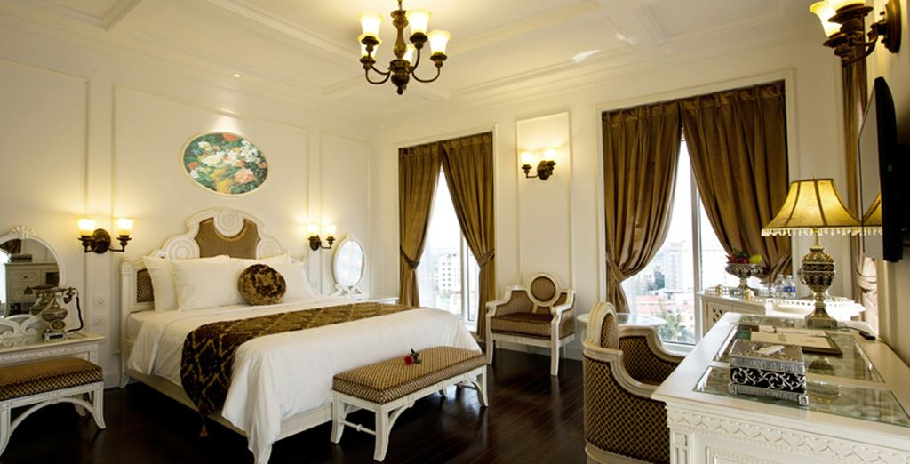 A Hue, nell'Eldora Hotel 4* alloggerete in eleganti camere