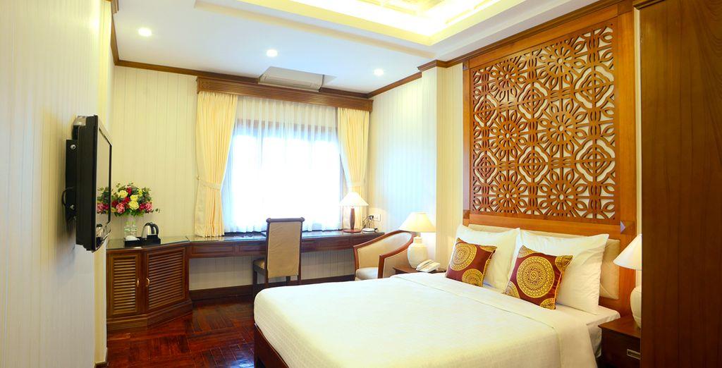 Durante il tour alloggerete in confortevoli hotel: Ad Hanoi soggiornerete presso il Thien Thai Hotel 4*