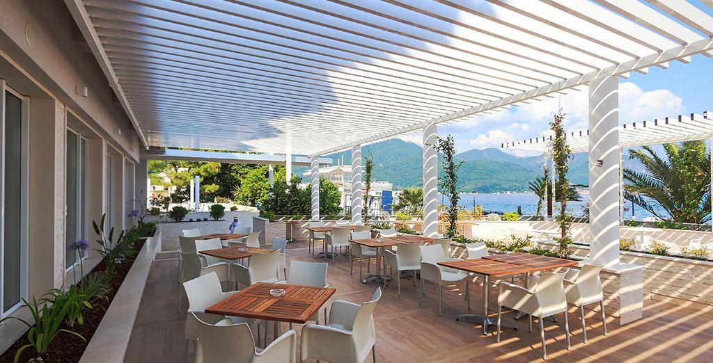 Se preferite rilassatevi in terrazza