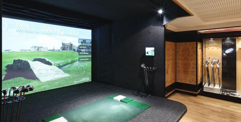 ...o al simulatore di golf