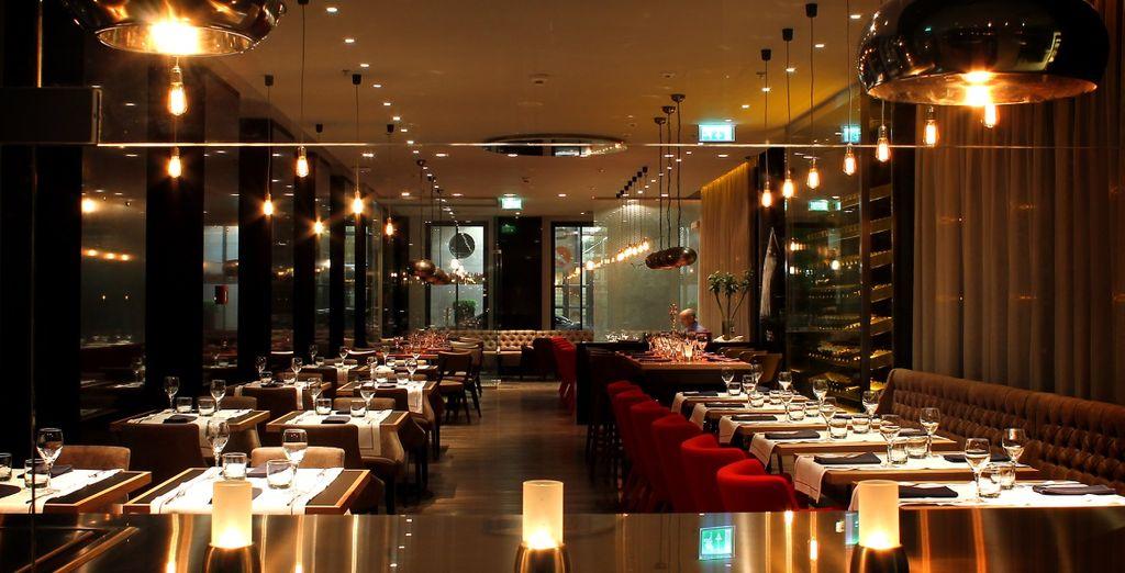 L'elegante ristorante dall'atmosfera rilassante