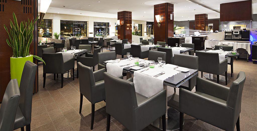 Il ristorante 324 Lounge vi offre piatti raffinati della tradizione romana