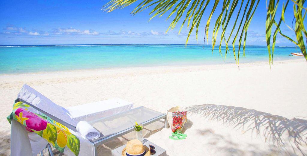 Distesi sulle spiagge bianchissime sotto il caldo sole