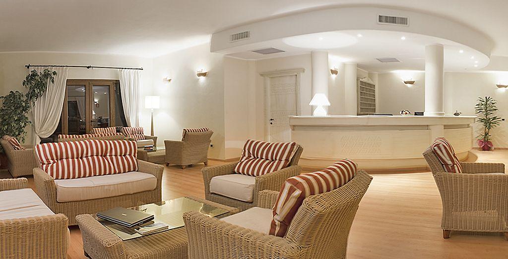 in un bellissimo hotel nella località di Bosa Marina
