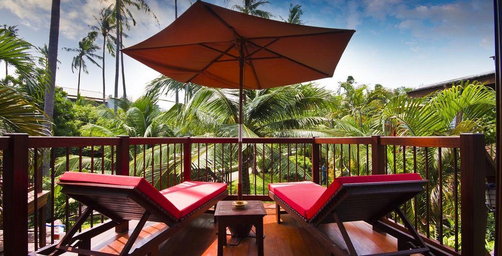 un hotel immerso nel verde di quest'isola meravigliosa