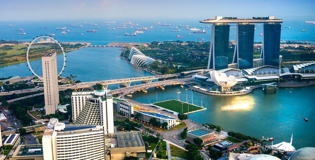 A seconda del programma scelto, potrete trascorrere una notte a Singapore
