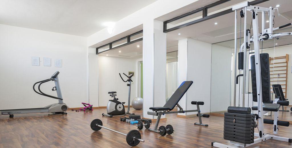 L'attrezzata palestra dove allenarsi e mantenersi in forma