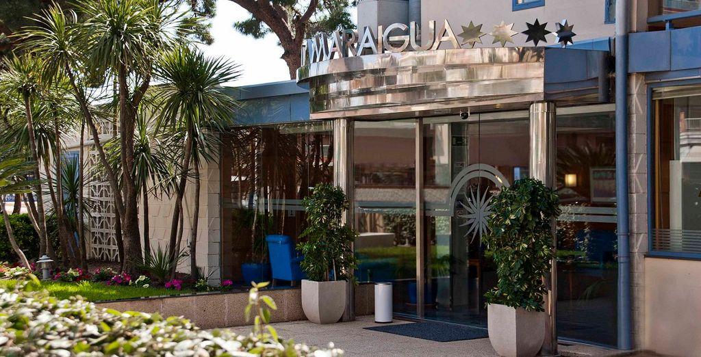 L'Hotel Amaraigua 4* vi ospiterà per un soggiorno all'insegna del mare e del relax