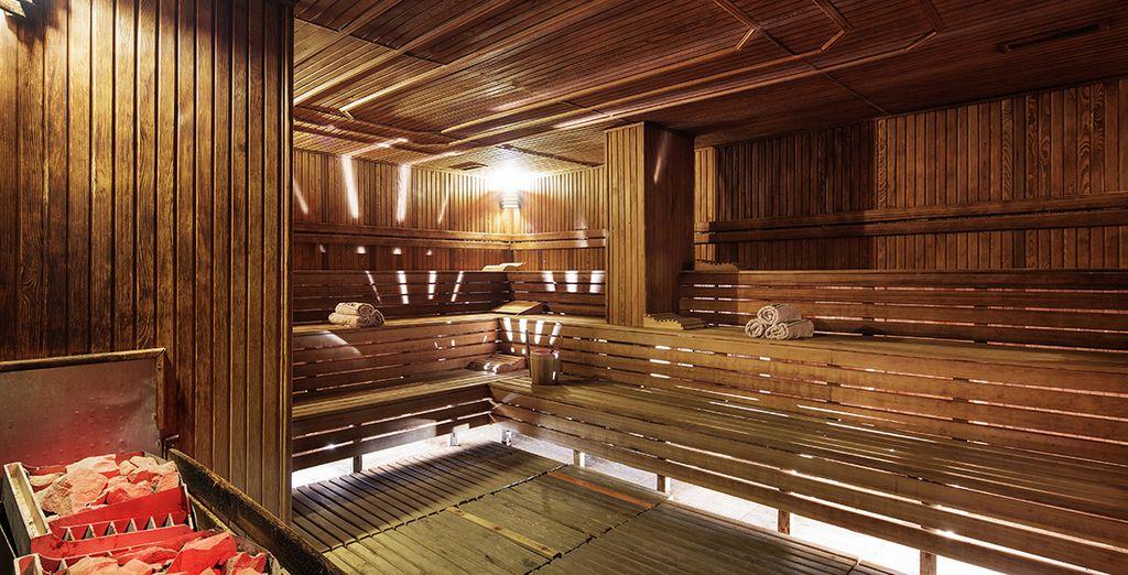 e la sauna è un'alternativa da provare
