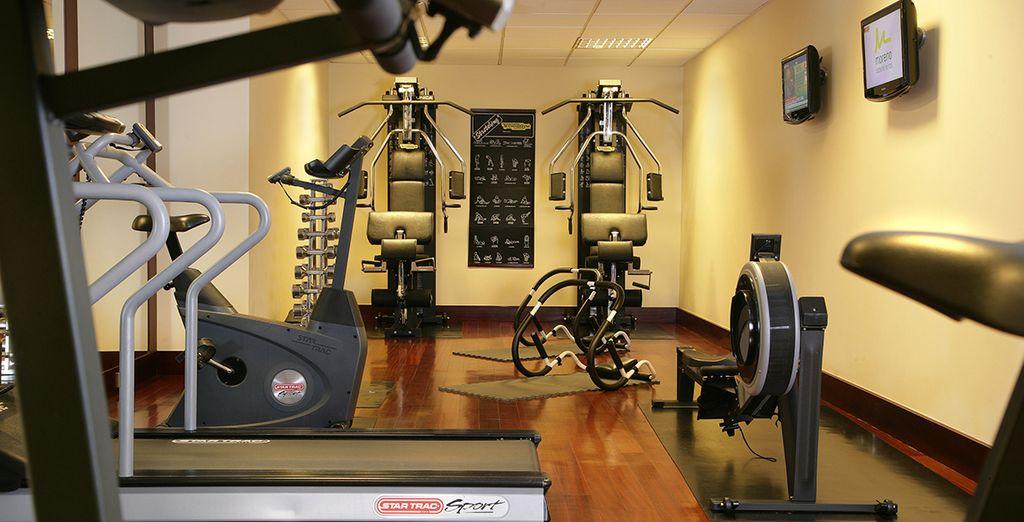 Continuate il vostro allenamento quotidiano nella palestra dell'hotel