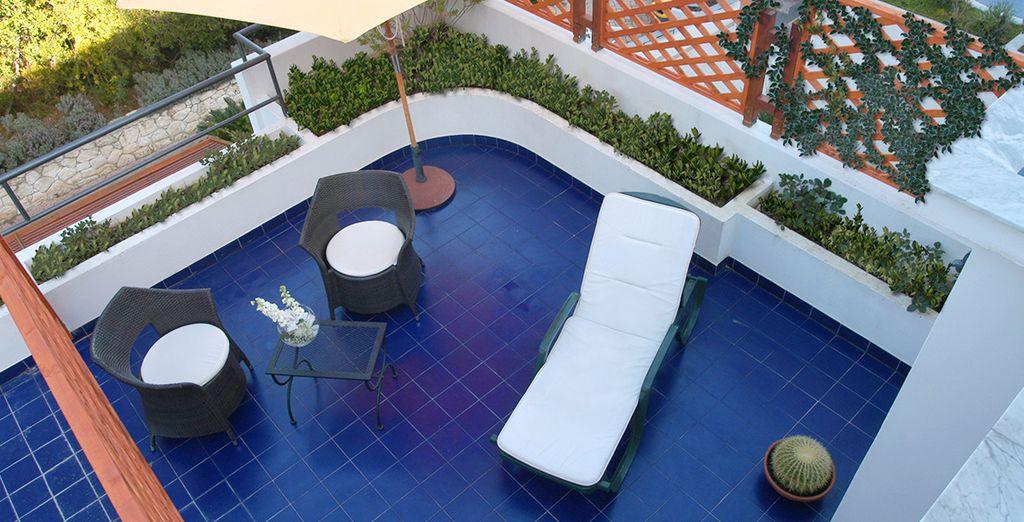 Dotata di ampia e comoda terrazza privata