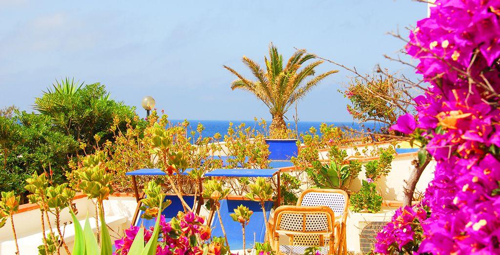 Lo stile mediterraneo di questo hotel vi farà sentire subito a casa