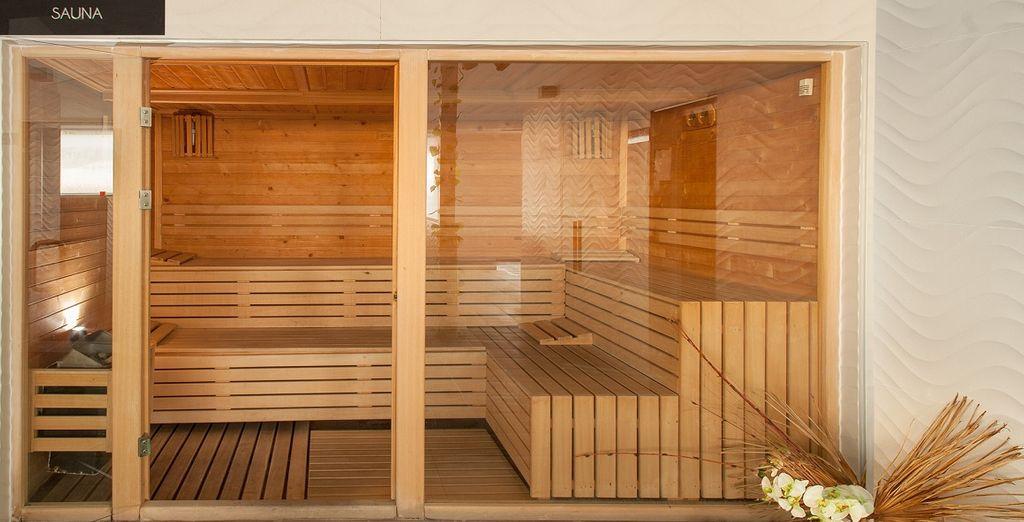 Trattamenti benesse in una sauna