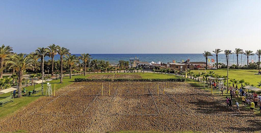 Giocate a Beach Volley nella spiaggia attrezzata