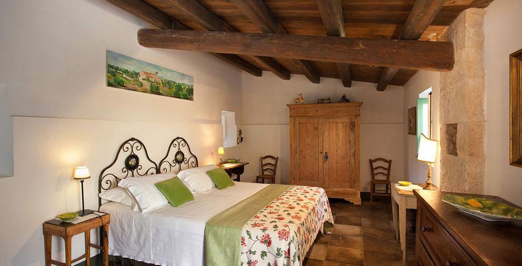 Potrete scegliere tra camere Comfort come la Camera dell'orto