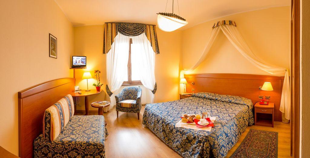 Potrete riposare nelle romantiche camere Classic