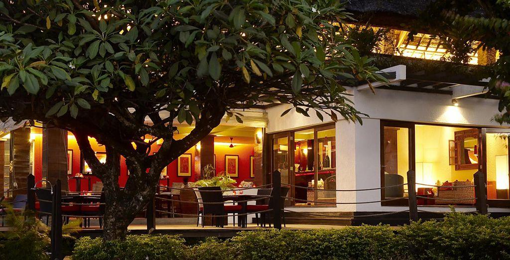 Di sera il resort si illumina con mille e più luci