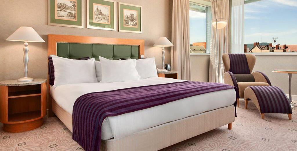 Hotel di charme a Budapest e camera confortevole con vista panoramica sulla città di Budapest