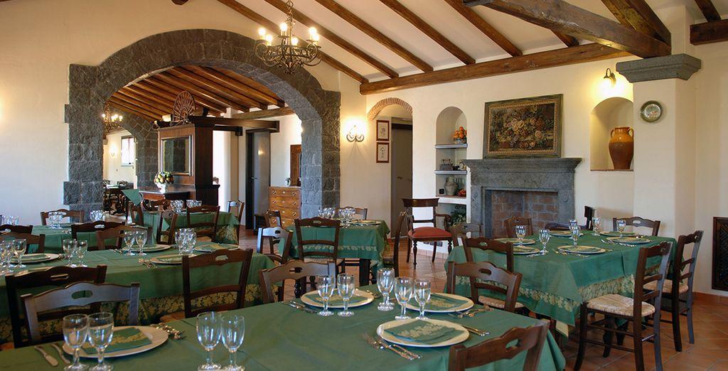 Gustate i sapori locali presso il ristorante dell'hotel